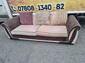 3 seater sofa from DFS-1 back cushion missing hence price £89