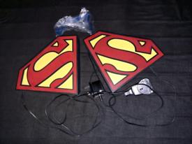 Superman Logo Light / Night Lamp (2 available – Like New)