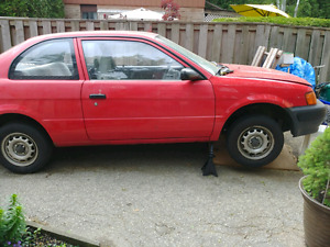 95 toyota tercel part out