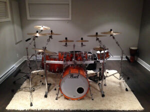 Ensemble complet Batterie Drum Pearl Reference Root Beer Fade