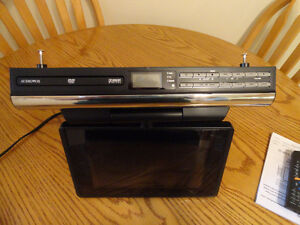 Under counter tv/dvd/radio with remote