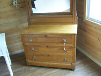 Eastlake style 3 drawer dresser with mirror