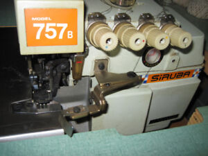 "Indust. Siruba Serger, 2 Singer 491 ,5"" Knife Km Cutting Machine"