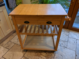 SoBuy bamboo kitchen trolley