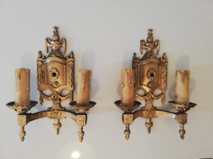 TWO 1920'S SCONCES