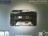 Epson WF3520 (WF-3520 series) multi-function printer, a yr old. Like new. Print, copy, fax, scan.