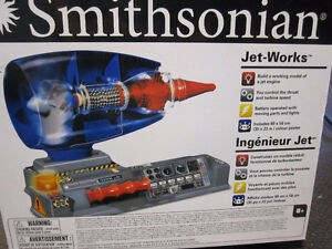 Smithsonian Jet Works - Working Jet Engine Models - opened boxes