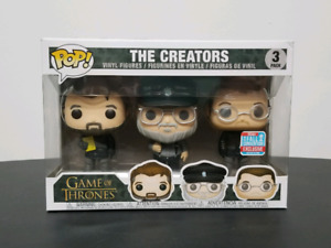 Funko Pop Game of Thrones The Creators 3 Pack NYCC Fall Con Excl