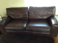 M&S 3 seater leather sofa