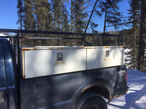 Weather Guard Truck Boxes with metal truck rack