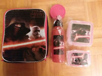 NEW: LUNCH BAG + LUNCH BOX & WATER BOTTLE(STAR WARS, SPIDERMAN.)