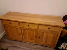 Natural Solid Oak Sideboard