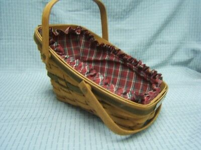 Longaberger 1991 Yulteide Traditions Christmas Collection Basket w/Liner VGC