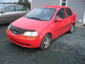 2006 Chevrolet Aveo Red Sedan