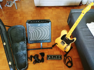 Squier Telecaster &  Fender Amp set (Retail value $1,100 +)