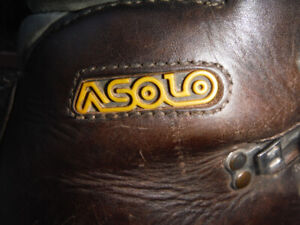 Asolo mens leather  mountaineer  climbing boots size 10   10 1/2