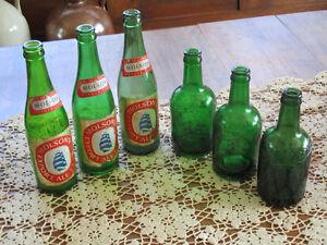 Vieilles bouteilles de bière Molson et Allan's