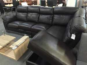 Awesome deal for a multi-functional leather sofa sectional