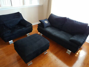 "Couch , loveseat and chair  Excellent condition  ""Italsofa """