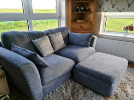 Sofa with matching footstool and armchair