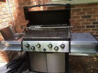 BROIL KING GAS BBQ with side burner and rotisserie set