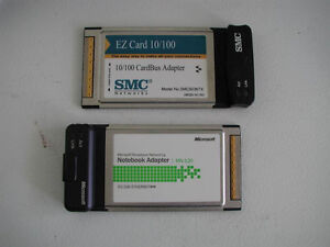 Laptop 100Mbit Ethernet PCMCIA NIC adapters