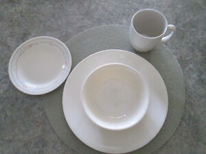BEIGE CORELLE DISHES FOR FOUR