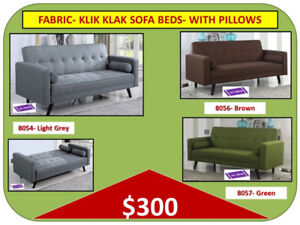 KLIK KLAK FUTON SOFA BED Warehouse-Many Models-Delivery $25 & up