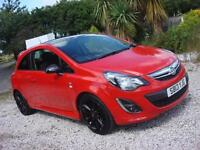 2013 13 PLATE Vauxhall Corsa 1.2i 16v ( 85ps ) Limited Edition ( a/c ) in Red