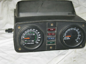 Polaris Indy Gauge Housing with Headlight and Gauges.