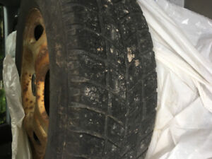 4 Winter tires on rims $225 OBO