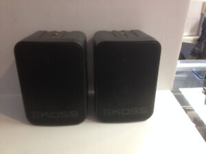 """sold""  Koss two way indoor or outdoor stereo speakers"