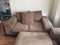 Scs 2 x 2 seater and large pouffe