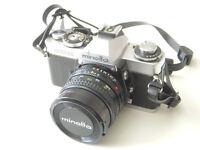 Minolta XD11 camera with 50mm lens