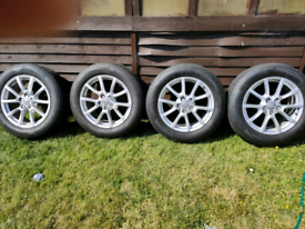 Audi 18inc alloy wheels x4 with tyres