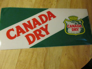 CANADA DRY Ginger Ale Soda Pop Sign Plastic Vintage Man Cave