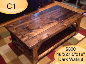 CUSTOM BUILT COFFEE TABLES, YOUR CHOICE OF STAIN Kingston Kingston Area image 5