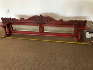 Antique Pump Organ Mirror Top