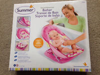 Baby bather seat recliner