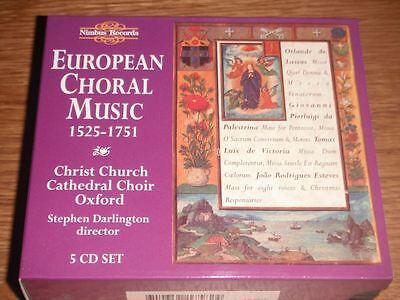 European Choral Music (European Choral Music 1525-1751 - Christ Church Choir Stephen Darlington)