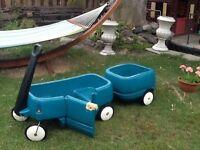Chariot enfants avec remorque