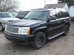 2004+2006 black Cadillac Escaldes AWD fully loaded =FOR PARTS=