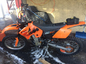 KTM 450 EXC plated and registered for hwy use in BC