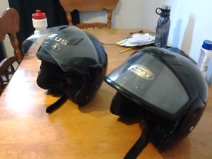 Two adult large helmets