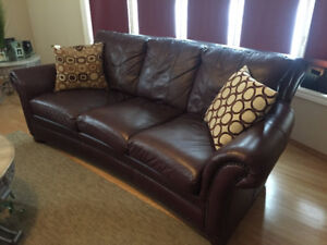 Good Condition 3 piece Leather Couches