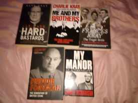 Collection of old school ganster books