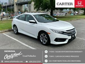 2017 Honda Civic LX + MAY DAY SALE + CERTIFIED!