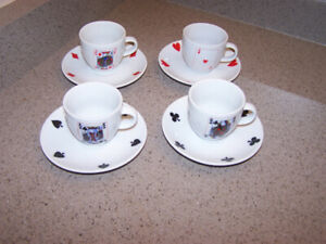8 piece set CASA ELITE EXPRESSO CUP/PLATE - home collections
