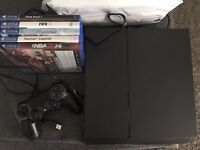 Ps4 500gb and 5 games