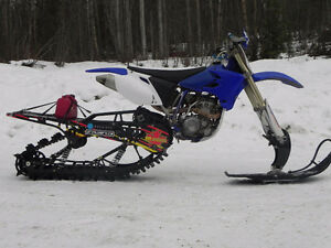 yz250f with timber sled kit
